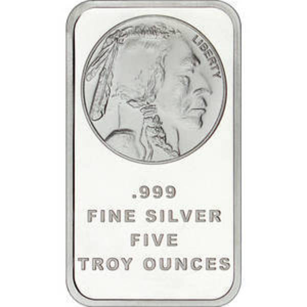 Compare cheapest prices of 5 oz Silver Bar - SilverTowne Buffalo Design