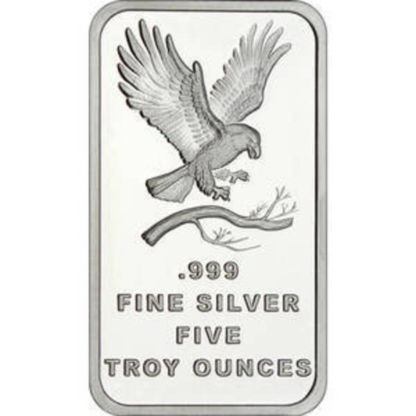 Compare 5 oz Silver Bar - SilverTowne Eagle Design prices