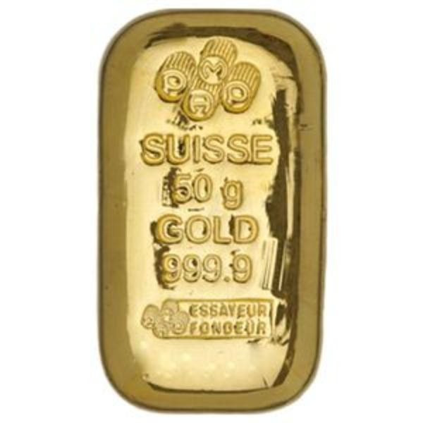 Compare 50 Gram PAMP Suisse Gold Bar prices