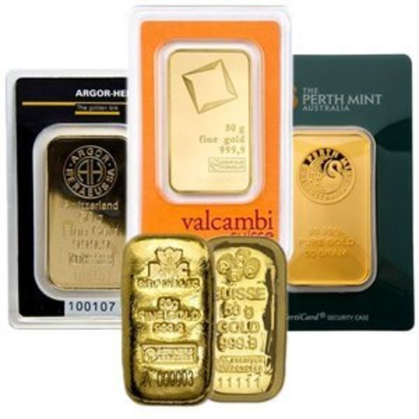 Compare gold prices of 50 Gram Gold Bar
