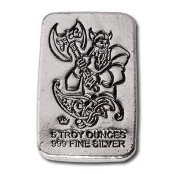 Compare silver prices of 5 oz Silver Bars Monarch Viking Warrior with Battle Axe