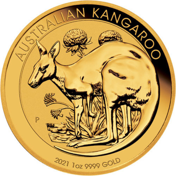 Compare 2021 1 oz Australian Gold Kangaroo Coin (BU) prices