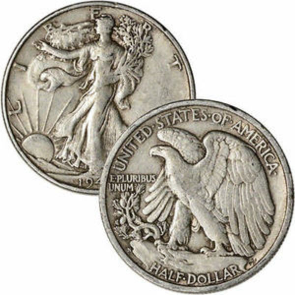 Compare silver prices of Walking Liberty Half Dollars - $10 Face Value 90% Silver