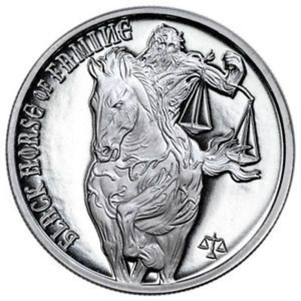 Compare silver prices of Black Horse of Famine 1 oz Silver Round