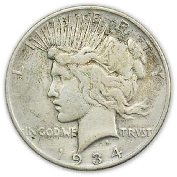 Compare silver prices of Random Year Peace Dollar Silver Coin