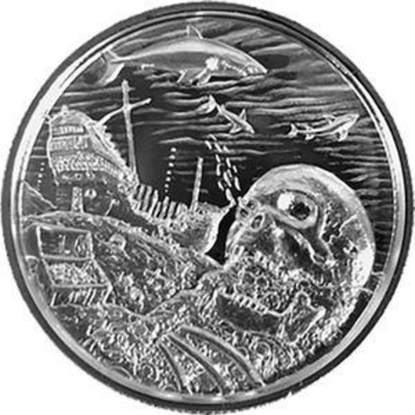 Compare silver prices of Elemetal Privateer Davy Jones Locker P7 2 oz round