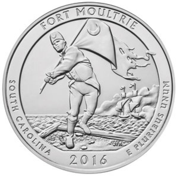 Compare silver prices of 2016 Silver 5oz. Fort Moultrie National Monument ATB