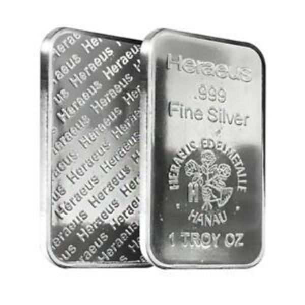 Compare 1 oz Heraeus Silver Bar .999 Fine prices