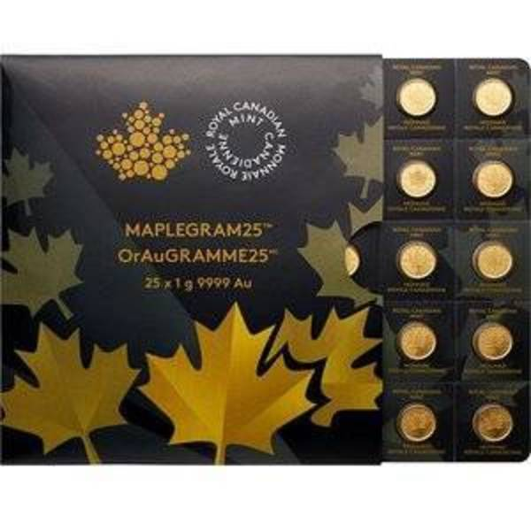 Compare gold prices of MapleGram25 - Qty 25 Maple Leaf 1 Gram Coins .9999 Pure Gold