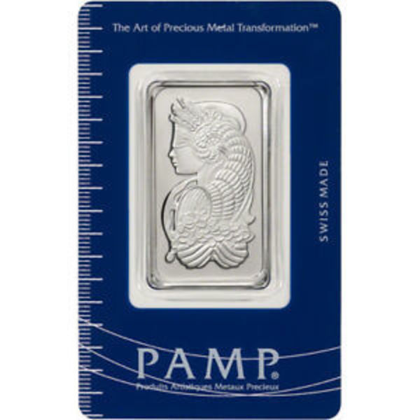 Compare cheapest prices of Pamp Suisse Fortuna 1 oz Platinum Bar