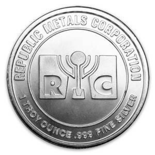 Compare silver prices of RMC 1 oz silver round