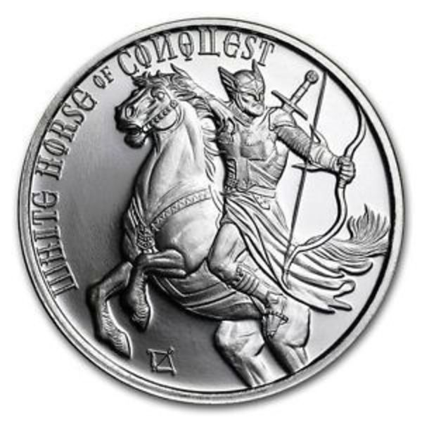 Compare silver prices of White Horse of Conquest 1 oz Silver Round