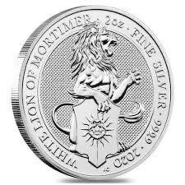 Compare cheapest prices of 2020 The White Lion of Mortimer - Queen's Beasts 2 oz Silver Bullion Coin