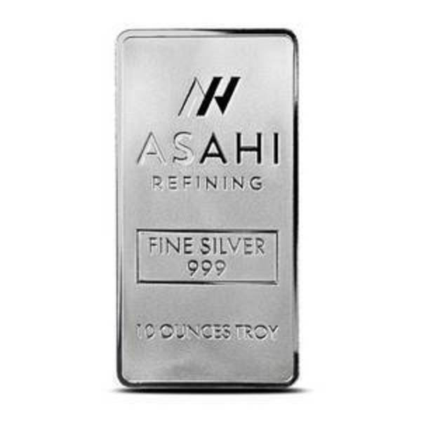 Compare silver prices of 10 oz Silver Bars Asahi .999 Fine Bullion Ingot