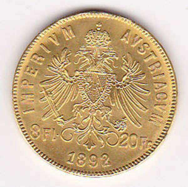 Compare gold prices of Austria Gold 8 Florin 20 Francs