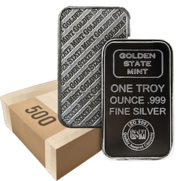 Compare silver prices of Monster Box 1 oz Golden State Mint Silver Bars
