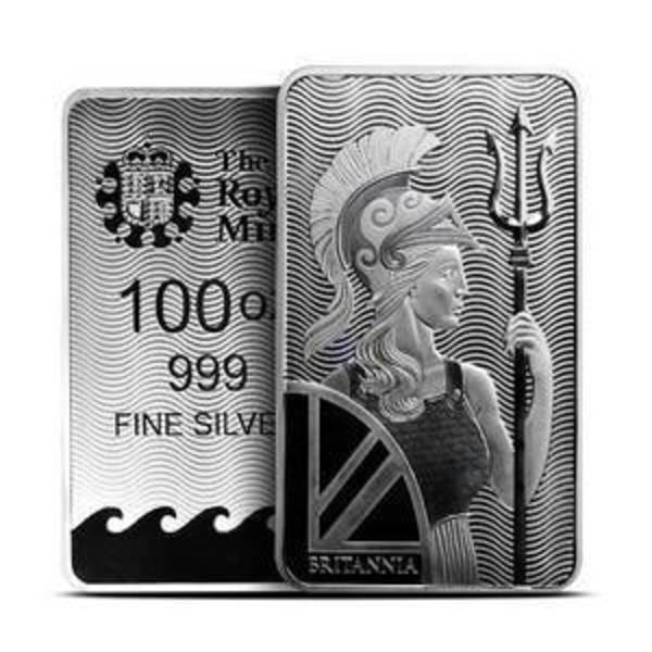 Compare silver prices of 100 oz British Silver Britannia Bar