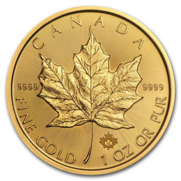 Compare gold prices of 1 oz Canadian Gold Maple Leaf Coin - Random Year