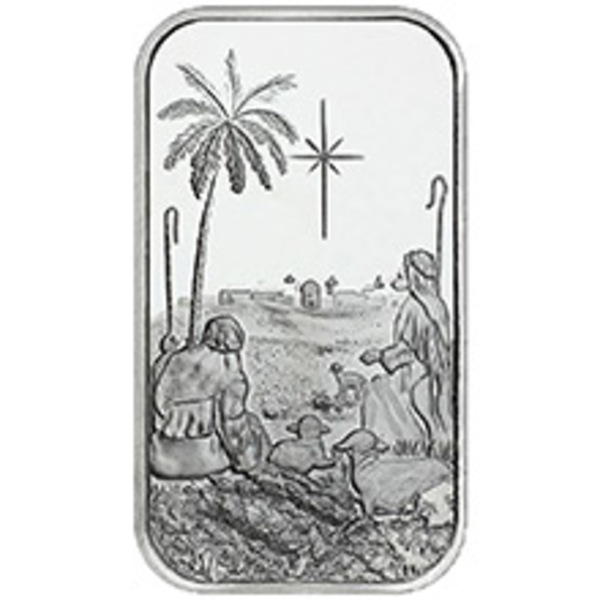 Compare silver prices of Christmas Shepherds 1 oz Silver Bar