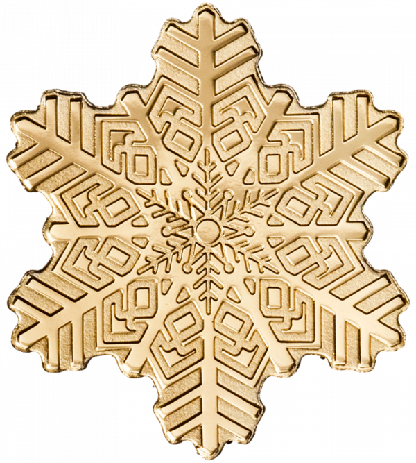 Compare gold prices of $5 Golden Snowflake 1/2 gram Gold Coin