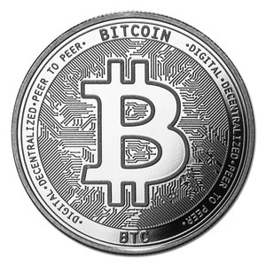 Compare silver prices of Cryptocurrency Bitcoin - 1 oz Silver Bullion Round