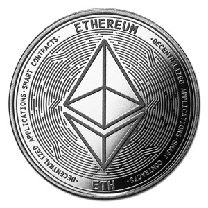 Compare Cryptocurrency Ethereum 1 oz Silver Bullion Round  prices