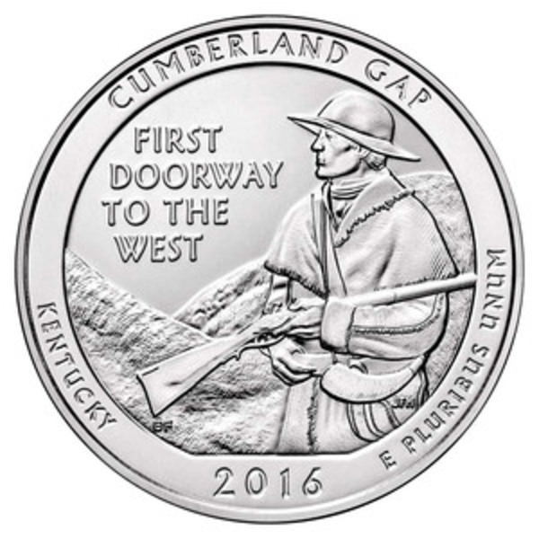 Compare 2016 Silver 5oz. Cumberland Gap National Historical Park ATB prices