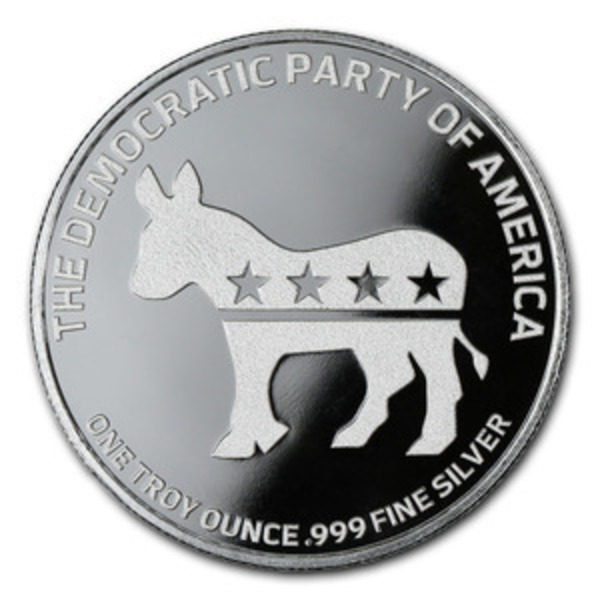 Compare cheapest prices of Democratic Party 1 oz Silver Round