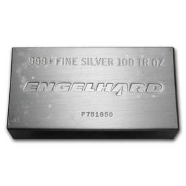 Compare silver prices of Engelhard 100 oz Silver Bar
