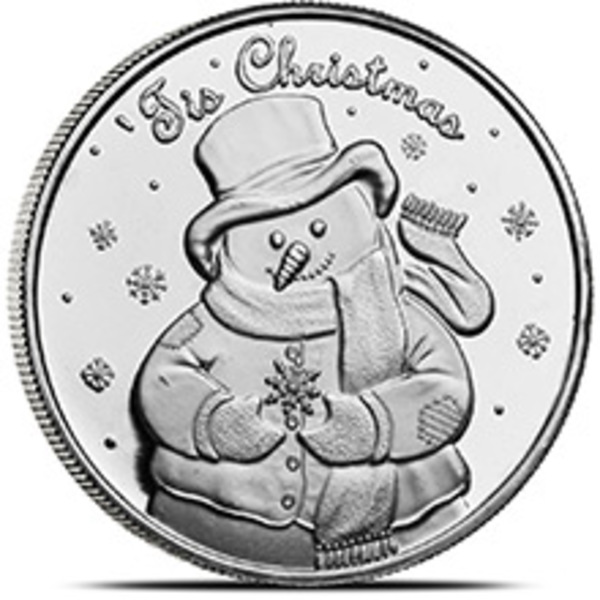 Compare silver prices of Christmas Snowman 1 oz Silver Round