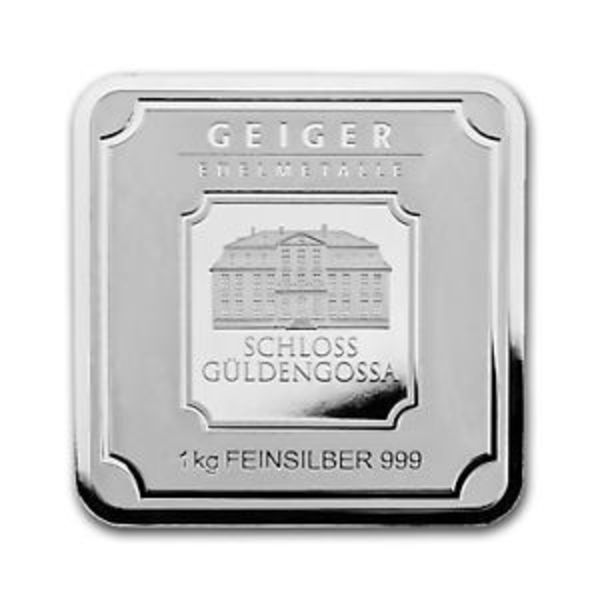 Compare cheapest prices of 1 Kilo Silver Bar - Geiger (Original Square Series)