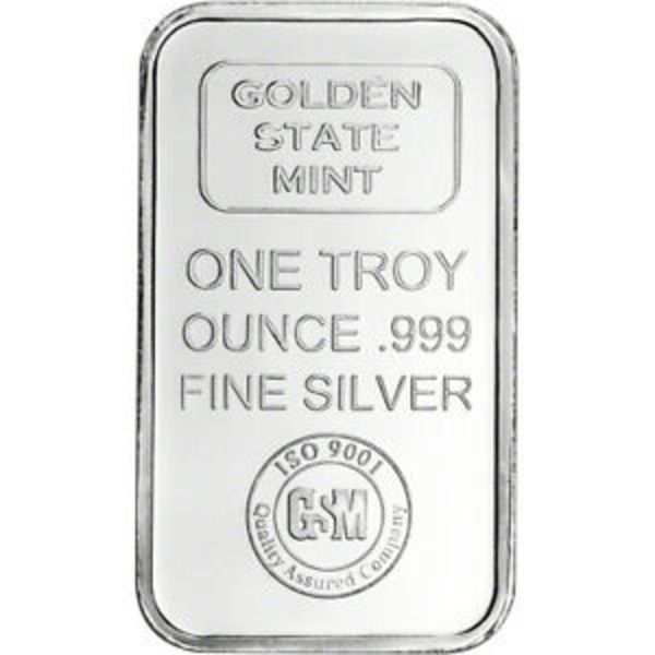 Compare silver prices of 1 oz Golden State Mint Silver Bar
