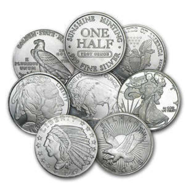 Compare silver prices of 1/2 oz Silver Round - Secondary Market