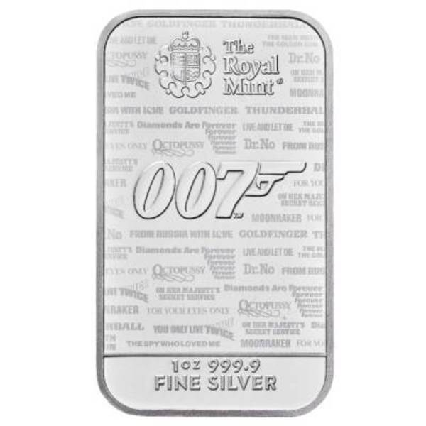 Compare silver prices of James Bond 1 oz Silver Bar