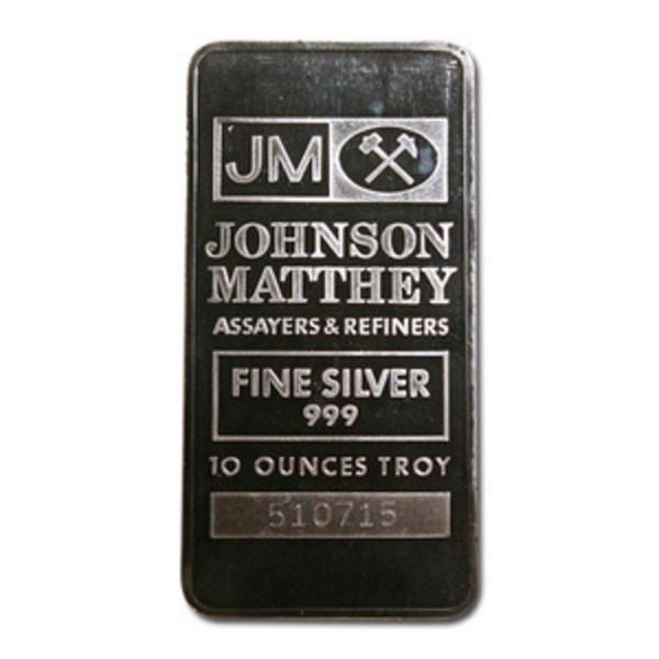 Johnson Matthey 10 oz Silver Bar