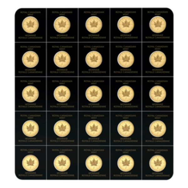 Compare gold prices of 2020 MapleGram25 Sheet of Gold Coins 25 gram (25 x 1 g)