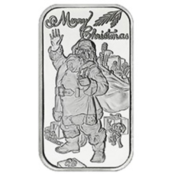 Compare silver prices of Merry Christmas Santa 1 oz Silver Bar