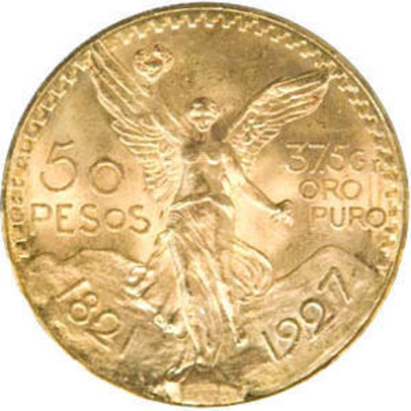Compare 50 Peso Mexican Gold Coin - Various Years prices