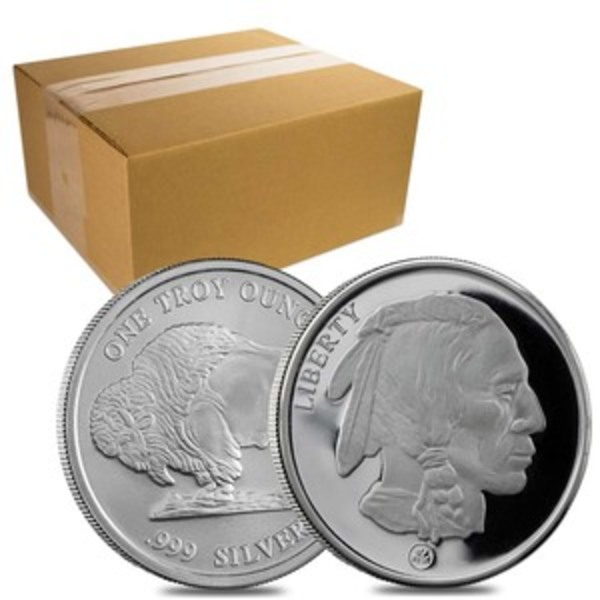 Compare silver prices of Monster Box - Buffalo 1 oz Silver Rounds (500 Coins)