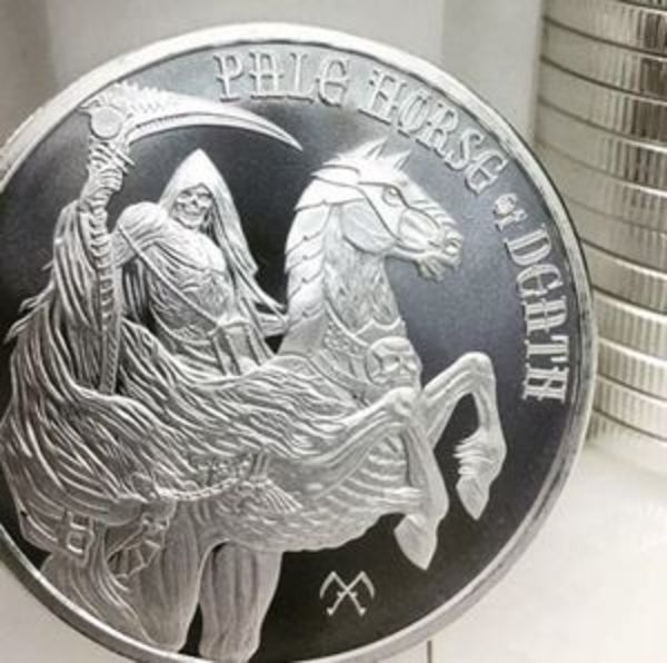 Compare cheapest prices of Pale Horse of Death 1 oz Silver Round