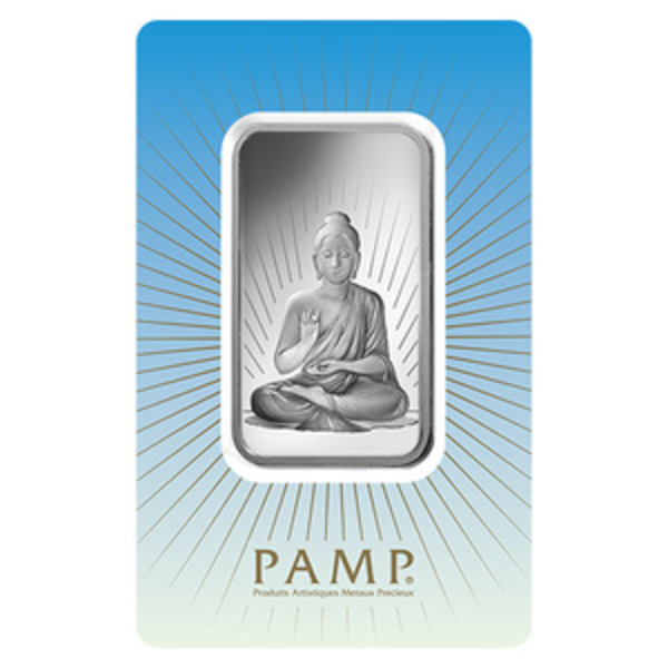 Compare silver prices of PAMP Suisse Buddha 1 oz Silver Bar