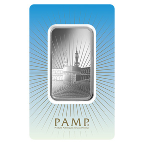 Compare PAMP Suisse Ka'bah Mecca 1 oz Silver Bar prices
