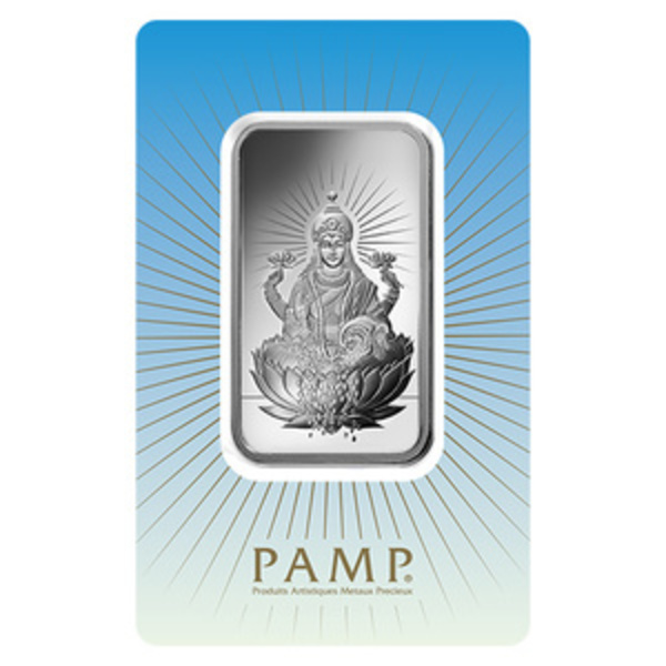 Compare silver prices of PAMP Suisse Lakshmi 1 oz Silver Bar
