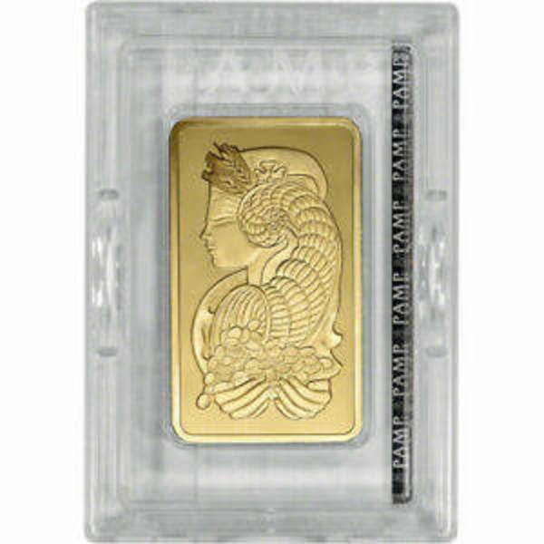 Compare gold prices of 10 oz Gold Bar Pamp Suisse Fortuna w/ VERISCAN .9999 Fine 24kt