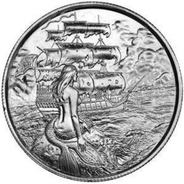 Compare silver prices of Elemetal Siren 2 oz  Ultra High Relief Silver Round (Privateer Series #2)