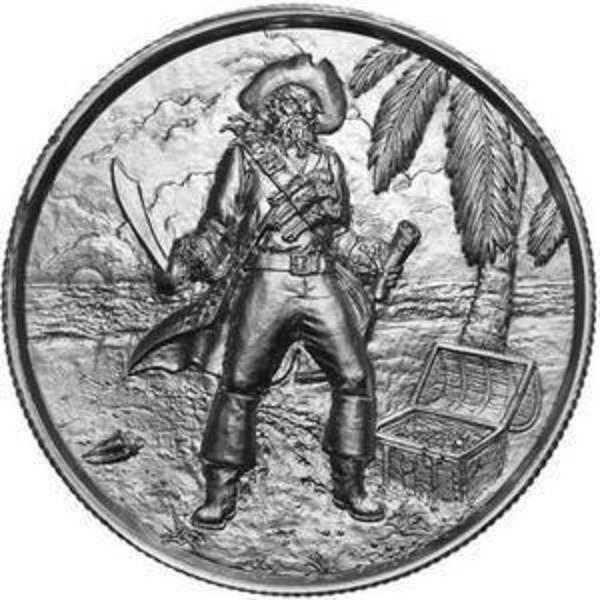 Compare silver prices of Elemetal The Captain 2 oz Ultra High Relief Silver Round (Privateer Series #3)