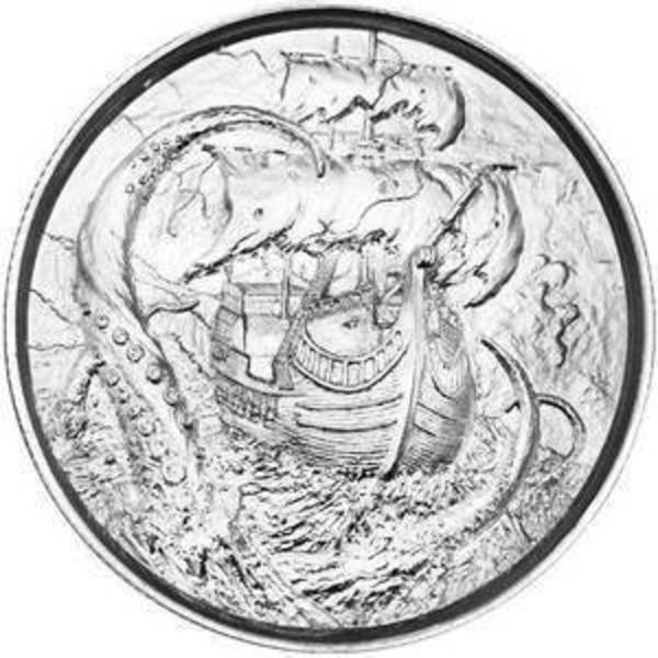 Compare silver prices of Elemetal The Kraken 2 oz Ultra High Relief Silver Round (Privateer Series #4)
