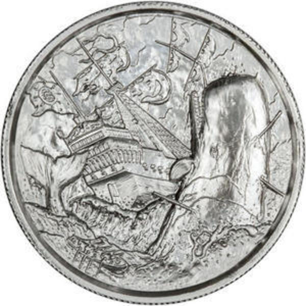 Compare silver prices of Elemetal The White Whale 2 oz Ultra High Relief Silver Round (Privateer Series #6)