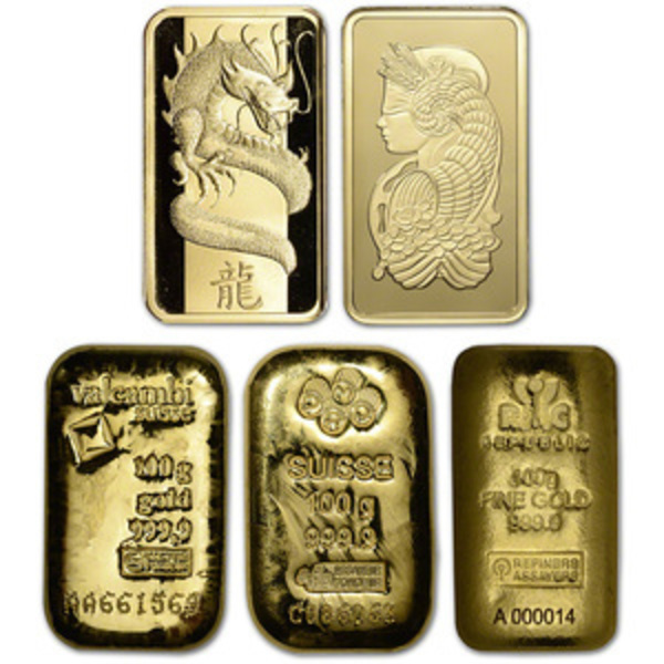 Compare gold prices of 100 gram gold bar