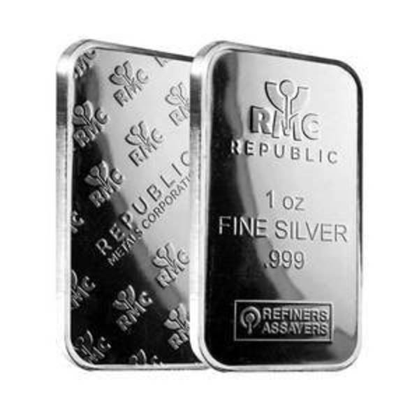 Compare silver prices of Republic Metals 1 oz Silver Bar